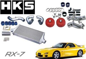 Hks R Type Intercooler Turbo Piping Air Intake Filter Complete Kit Mazda Rx7