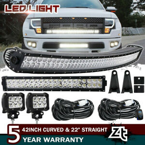 42inch Led Offroad Light Bar Combo 20 4 Cree Pods Suv 4wd Ute Ford Jeep 40