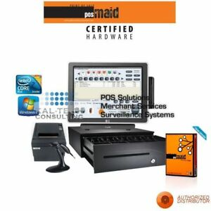 Pc America Cre Pro Retail Pos All In One System Complete Station New