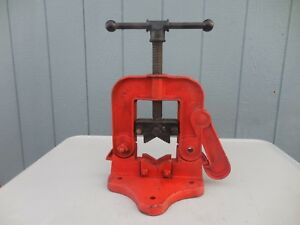Reed No 62 Bench Yoke Vise 1 4 5 Opening Pipe Clamp very Good