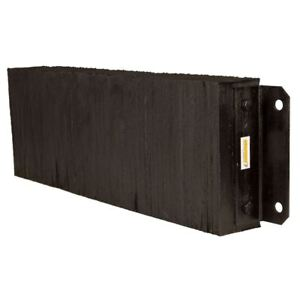 Rubber 4 1 2 Deep Horizontal Laminated Dock Bumper 12 H X 36 W