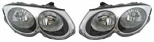 99 04 Chrysler 300m Headlights Headlamps Pair Set Of 2 Left Right New
