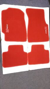 Fit 92 95 Honda Civic 2 3 4 Dr Red Floor Mats Carpet W Emblem R