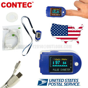 Usa 24 Hours Recorder Oled Finger Pulse Oximeter Blood Oxygen Spo2 pc Software
