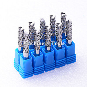 5pcs 6mm 52mm 3a carbide Pcb Corn Teeth End Mill Milling Cutter Cnc Router Bits