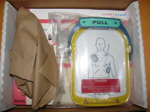 New Philips Heartstart M5073a Hs1 Adult Training Pads Cartridge Kit
