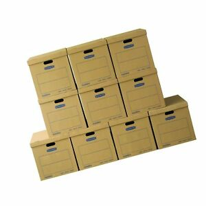 Bankers Box Smoothmove Classic Moving Boxes Tape free Assembly Easy Carry H