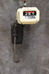 Jet 1ss 1c 15 1 Ton Electric Chain Hoist 1ph 18 Lift 115 230v Single Phase