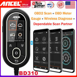 Ancel Bd310 Bluetooth Scan Tool Smart Obd Digital Meter Gauge For Android iphone