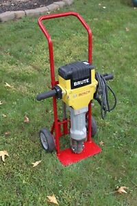 2017 Bosch Brute Bh2760 Breaker Jack Demo Hammer With Cart Hauler And 2 Bits