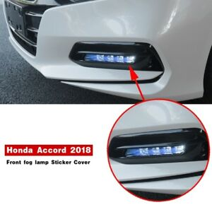 2pcs Blue Front Fog Light Lamp Cover Sticker Fit For Honda Accord 2018 2019