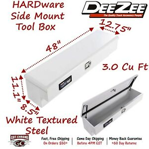 Dz 8748s Dee Zee Tool Box Hardware Series Side Mount White Steel 48