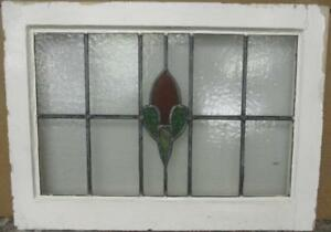 Mid Sized Old English Leaded Stained Glass Window Nice Abstract 25 5 X 18 5