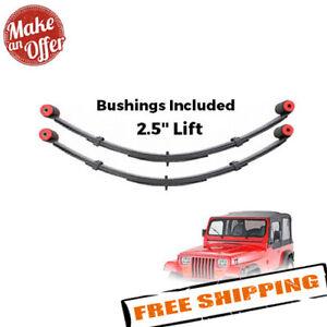 Pro Comp 51313 Front 2 5 Lifted Leaf Springs W bushing 87 95 Wrangler Yj Pair