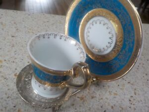 Arnart 5th Ave Demitasse Cup And Saucer 2058 Hand Painted