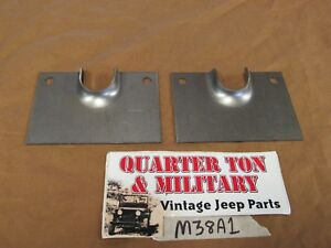 Jeep Willys M38a1 Rear Seat Pivot Brackets Pair New Us Made 7697497