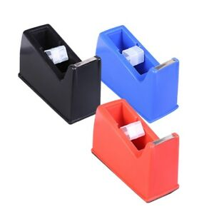 3pcs Desktop Tape Dispenser Nonskid Base Plastic Adhesive Tape Holder For Office