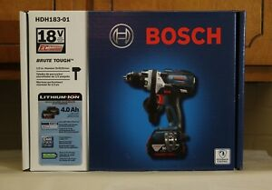 Bosch Hdh183 01 18 Volt Cordless Hammer Drill Driver With Free Hole Saws