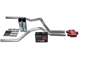Dodge Ram 1500 Truck 94 03 2 5 Dual Exhaust Kits Cherry Bomb Extreme Slash Tips
