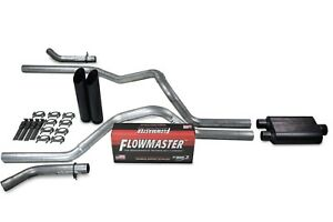 Chevy Gmc 1500 07 14 2 5 Dual Exhaust Kit Flowmaster 40 Series Black Tip Corner