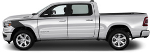 Front Fender Hockey Vinyl Graphic Decal Stripes For Dodge Ram 1500 2019 Up