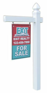 Economy Real Estate Yard Sign Post With Easy Installation Stake And Gothic Cap