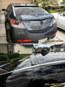 Painted To Match Aggressive K Design 09 14 For Acura Tl 4th Sedan Roof Spoiler