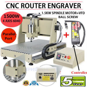 1500w Vfd 4 Axis Cnc 6040 Router Engraver Engraving 3d Mill Machine controller