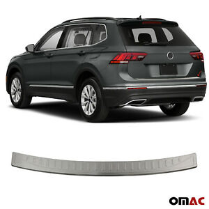 Fits Vw Tiguan 2018 2021 Chrome Rear Bumper Guard Trunk Sill Protector Brushed