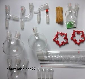 Chemistry Lab Glassware Kit lab Stand Clamp 24 40 110v Heating Mantle