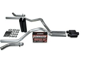 Dodge Ram 1500 09 18 2 5 Dual Exhaust Kits Flowmaster Super 10 Black Tip Corner