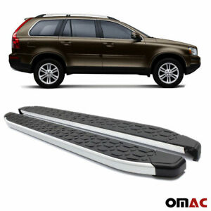 Alu Side Step Set Nerf Bars Running Boards For Volvo Xc90 2003 2014 No Drilling