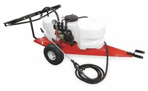 Fimco Trailer Sprayer 15 Gal Tank Capacity 2 1 Gpm Flow Rate 60 Psi