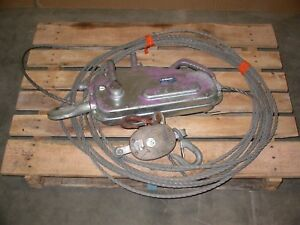 Griphoist Tirfor Tu 28 Manual Cable Hoist 7 16 Rope Diameter 4000 Lb Capacity
