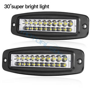 2x 120w Spot Led Work Light Car Truck Fog Lamp Suv Flush Mount Bumper Offroad 7