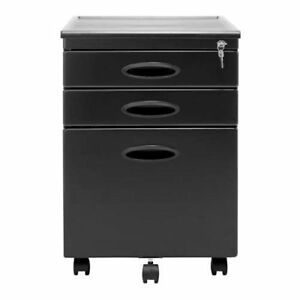 Studio Designs Mobile Home Office 3 Drawer File Storage Cabinet Gray used