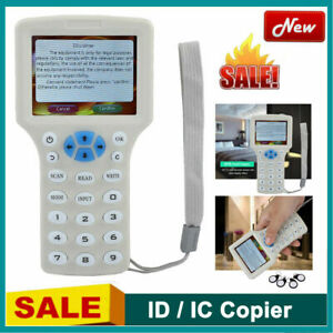 Smart 9 Frequency Ic Nfc Id Card Rfid Writer copier reader duplicator Usb White
