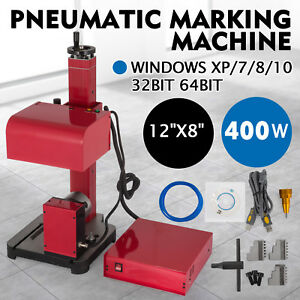 30x20cm Pneumatic Marking Machine Rotary Tool Logo Metal Signs Tagging 400w