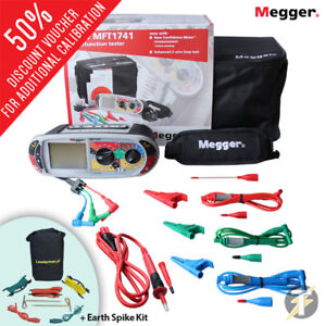 Megger Mft1741 18th Edition Multifunction Installation Tester W Earth Spike Kit
