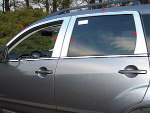For 2007 2009 Mitsubishi Outlander 4 door Suv 10 Pc Ss Window Trim Package