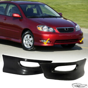 For 2005 2008 Toyota Corolla S Style Front Bumper Lips Lower Body Kit Lh Rh