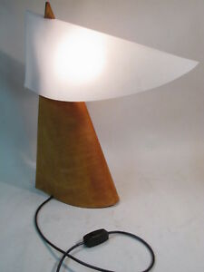 Vtg Goods Leather Zip Light Mid Century Modern Designed By Willnauer Table Lamp