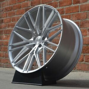 4 Set Road Force Wheels Staggered Rf13 20x8 5 10 5x112 35 42 Silver Benz Audi
