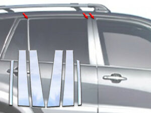 For 2001 2005 Toyota Rav4 4 door Suv 6 Pc Ss Pillar Post Trim