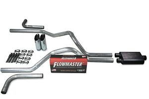 Dodge Ram 1500 04 08 2 5 Dual Exhaust Kits Flowmaster Super 44 Slash Tip Side