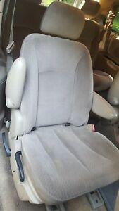 2002 Chrysler Town Country Right Pass Rear 2nd Row Bucket Seat Tan Cloth