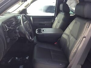 2010 2013 Gmc Crew Cab Katzkin Black Leather Seat Kit Sierra Jump Seat New