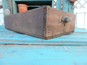 Antique Vintage Wood Drawers W Compartments Metal Handle Shadow Boxes