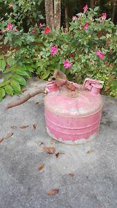 Old Vintage Safety Can Gas Collectible Antique