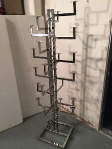 6 Tier Metal Retail Hat Rack Cap Display Adjustable Arms Retail Store Fixture